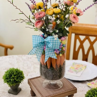 Dollar Tree Easy Spring Flower Vase